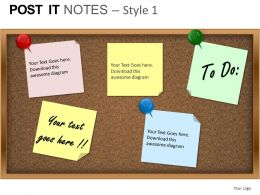 Post It Notes Style 1 Powerpoint Presentation Slides