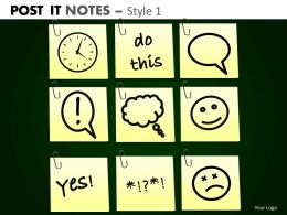 post it notes style 1 powerpoint presentation slides db PPT 10