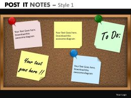 Post it notes style 1 powerpoint presentation slides db PPT 1