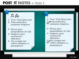 post it notes style 1 powerpoint presentation slides db PPT 2
