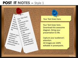 post it notes style 1 powerpoint presentation slides db PPT 3