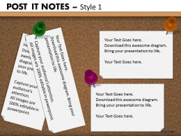 post it notes style 1 powerpoint presentation slides db PPT 4