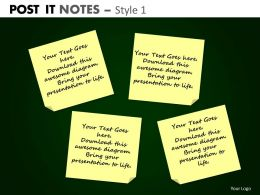 post it notes style 1 powerpoint presentation slides db PPT 7