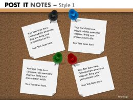 post it notes style 1 powerpoint presentation slides db PPT 8