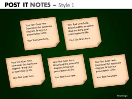 post it notes style 1 powerpoint presentation slides db PPT 9