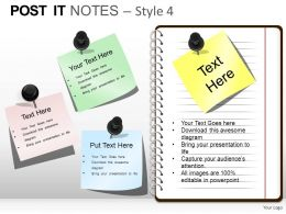 Post It Notes Style 4 Powerpoint Presentation Slides