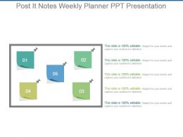 Post It Notes Weekly Planner Ppt Presentation