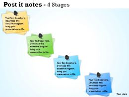 Post It Notes With 4 Stages