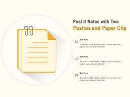 Post It Notes With Two Posties And Paper Clip