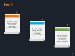 Post It Product Segmentation Ppt Summary Design Inspiration