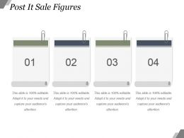 Post It Sale Figures Powerpoint Slide Designs