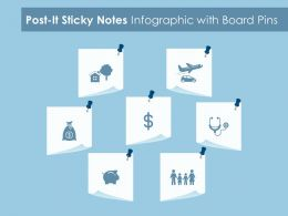 Post It Sticky Notes Infographic With Board Pins