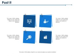 Post It With Four Icons Product Market Mapping