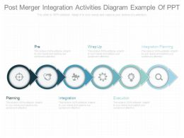 Post Merger Integration Activities Diagram Example Of Ppt