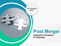 Post Merger Integration Framework And Challenges PowerPoint Presentation Slides