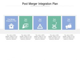 Post Merger Integration Plan Ppt Powerpoint Presentation Styles Design Templates Cpb