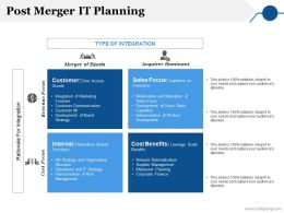 Post Merger It Planning Ppt Summary Graphics Pictures