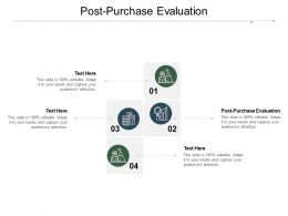 Post Purchase Evaluation Ppt Powerpoint Presentation Icon Clipart Cpb