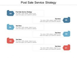 Post Sale Service Strategy Ppt Powerpoint Presentation Styles Designs Cpb