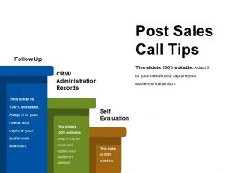 Post Sales Call Tips Sample Of Ppt
