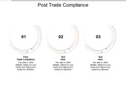 Post Trade Compliance Ppt Powerpoint Presentation Ideas Clipart Cpb