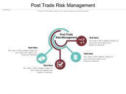Post Trade Risk Management Ppt Powerpoint Presentation Portfolio Templates Cpb