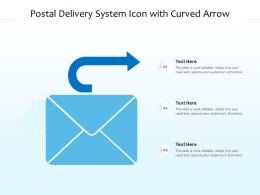 Postal Delivery System Icon With Curved Arrow