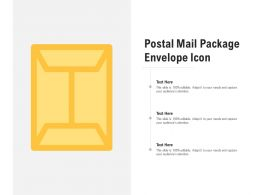 Postal Mail Package Envelope Icon