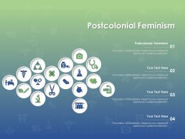 Postcolonial Feminism Ppt Powerpoint Presentation Layouts Grid
