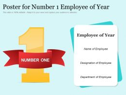 Poster For Number 1 Employee Of Year