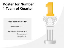 Poster For Number 1 Team Of Quarter