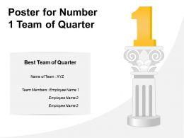 Poster For Number 1 Team Of Quarter