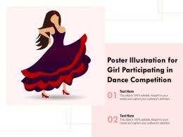 Poster Illustration For Girl Participating In Dance Competition