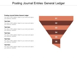 Posting Journal Entries General Ledger Ppt Infographic Template Infographic Cpb