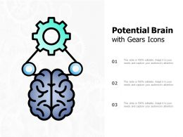 Potential Brain With Gears Icons