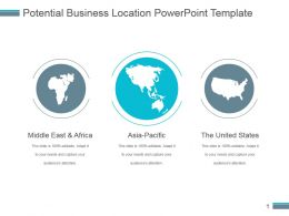 Potential Business Location Powerpoint Template