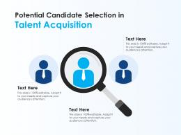 Potential Candidate Selection In Talent Acquisition