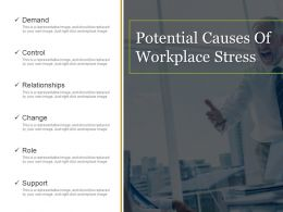Potential Causes Of Workplace Stress Ppt Samples