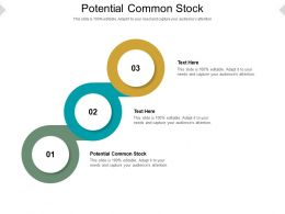 Potential Common Stock Ppt Powerpoint Presentation Infographic Template Inspiration Cpb
