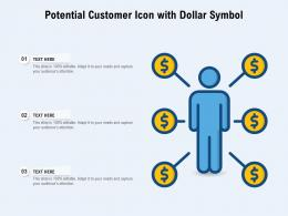 Potential Customer Icon With Dollar Symbol