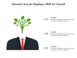 Potential Icon For Employee Skill Set Growth