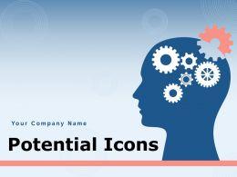 Potential Icons Market Gear Arrows Energy Cloud