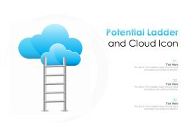 Potential Ladder And Cloud Icon