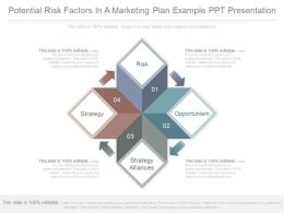 Potential Risk Factors In A Marketing Plan Example Ppt Presentation