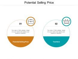 Potential Selling Price Ppt Powerpoint Presentation Picture Cpb