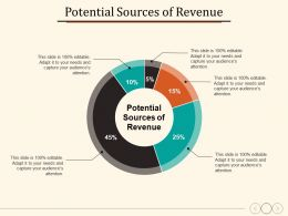 Potential Sources Of Revenue Planning Strategy Marketing