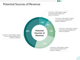 Potential Sources Of Revenue Ppt Powerpoint Presentation Infographics Show