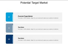 Potential Target Market Ppt Powerpoint Presentation Gallery Layouts Cpb