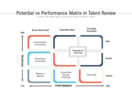 Potential Vs Performance Matrix In Talent Review