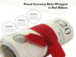 Pound Currency Note Wrapped In Red Ribbon